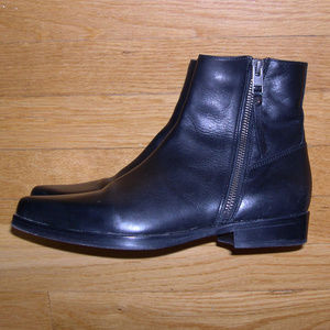 All Saints Keiko Ankle Boots Black Leather